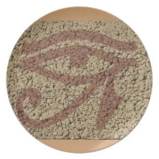 Eye Of Horus Dinner Plate