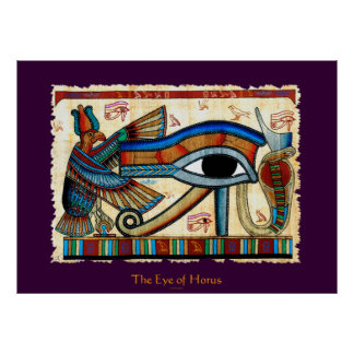 EYE OF HORUS Egyptian Art Poster