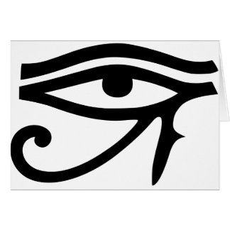 Eye of Horus Egyptian god gift idea Card