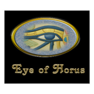 Eye of Horus Egyptian god poster