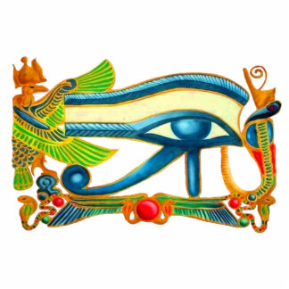 Eye Of Horus, Egyptian Good Luck Charm Photo Sculpture Button