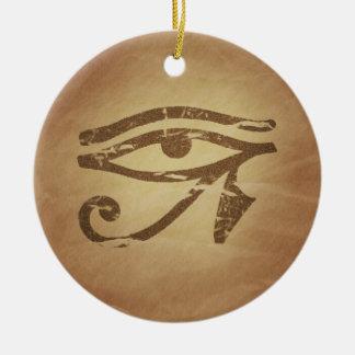Eye of Horus Egyptian Magic Charms Ceramic Ornament