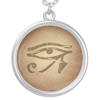 Eye of Horus Egyptian Magic Charms Round Pendant Necklace