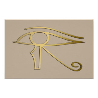 Eye of Horus Egyptian symbol Poster