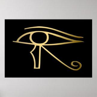 Eye of Horus Egyptian symbol Poster
