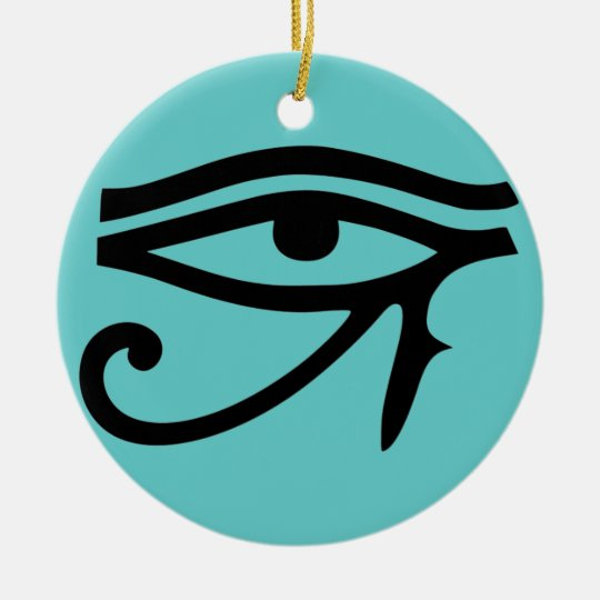 Eye of Horus/ Eye of RA Ceramic Ornament