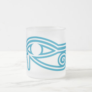 Eye_of_Horus Frosted Glass Coffee Mug