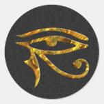 Eye Of Horus - GOLD | black splatter Stickers