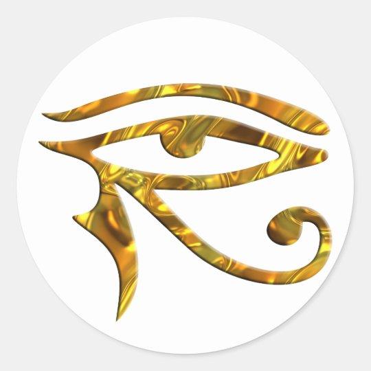Eye Of Horus - GOLD Classic Round Sticker