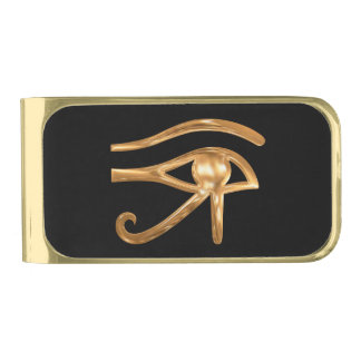 Eye of Horus Gold Finish Money Clip