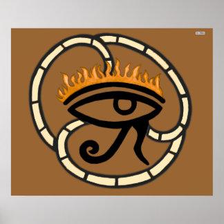 Eye of Horus (Gold) Poster