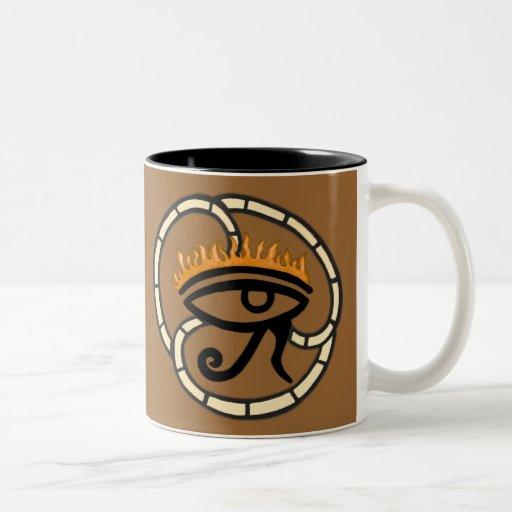 Eye of Horus (Gold) Two-Tone Coffee Mug