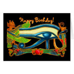 Eye Of Horus good luck charm birthday card