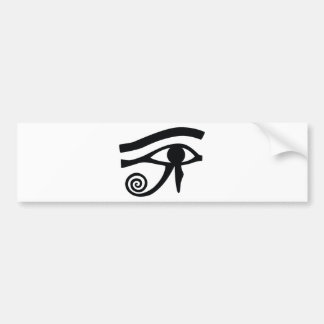 Eye of Horus Hieroglyphic Car Bumper Sticker