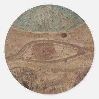 Eye of Horus Hieroglyphic in Karnak Temple,  Luxor Classic Round Sticker
