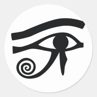 Eye of Horus Hieroglyphic Round Sticker
