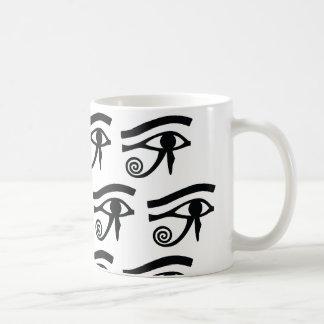 Eye of Horus Hieroglyphics Mugs
