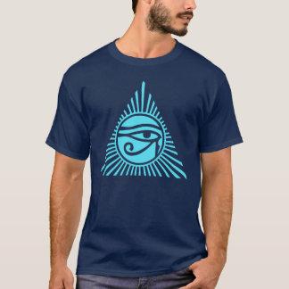 Eye of Horus in Sun Rays Pyramid T-Shirt