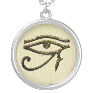 Eye of Horus Light Silver Plated Necklace