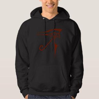 eye of horus logo hooded pullover