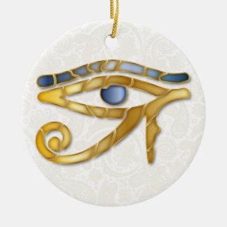 Eye Of Horus Mosaic - Gold-Blue 1 - Ornament