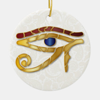 Eye Of Horus Mosaic - Gold-Blue Red 1 - Ornament