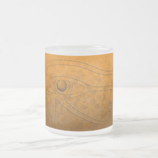 Eye of Horus 10 Oz Frosted Glass Coffee Mug