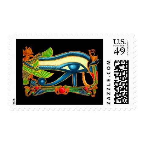 Eye Of Horus on black Postage
