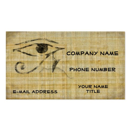 Papyrus Business Card Templates Bizcardstudio