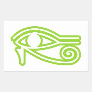 Eye_of_Horus Pegatina Rectangular