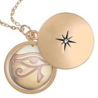 EYE OF HORUS POWERFUL PROTECTION CHARM GOLD PLATED NECKLACE