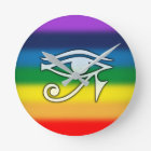 Eye of Horus Rainbow Clock