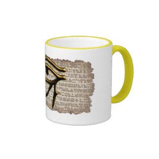 Eye of Horus Ringer Mug