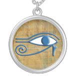 Eye of Horus Round Pendant Necklace