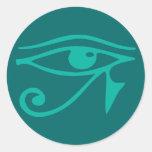 Eye of Horus Round Sticker