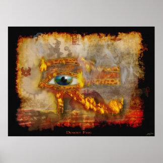 Eye of Horus Sacred Egyptian Art Poster