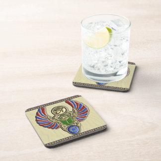 Eye of Horus Scarab Beverage Coaster