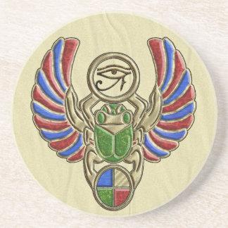 Eye of Horus Scarab Beverage Coasters