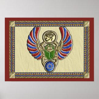 Eye of Horus Scarab Poster