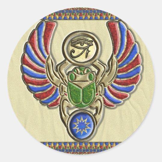 Eye of Horus Scarab Stickers