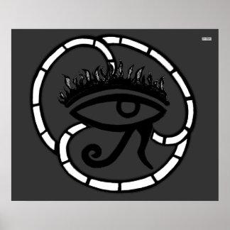 Eye of Horus Sillohette Poster