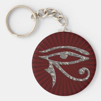 Eye Of Horus - SILVER Keychain
