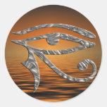 Eye Of Horus - SILVER | sundown Round Sticker