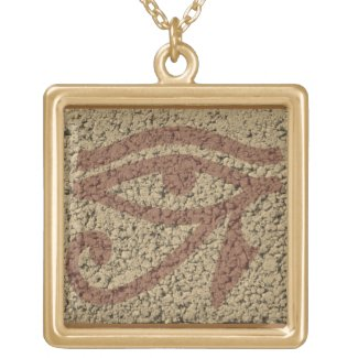 eye of horus square pendant necklace