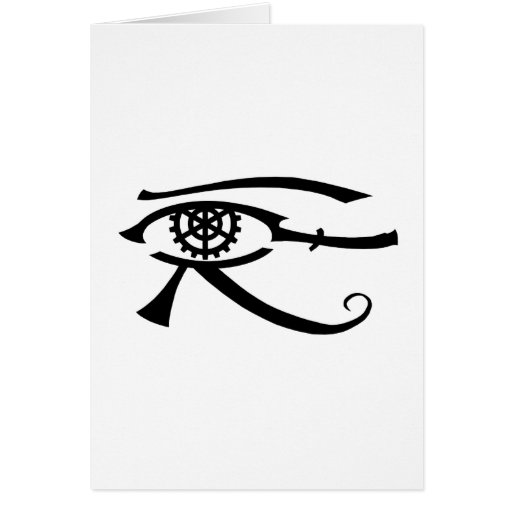 Eye of Khopesh Greeting Cards