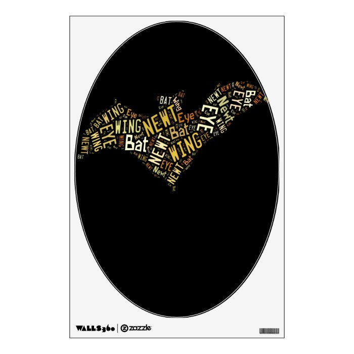 Eye of Newt and Wing of Bat Wall Sticker