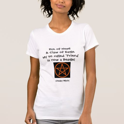 Eye of Newt - Cheeky Spell T Shirt (orange)