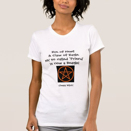 Eye of Newt - Cheeky Spell T Shirt (orange)