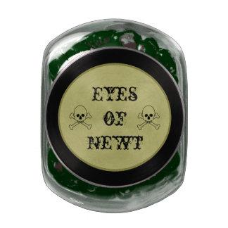 Eye Of Newt Halloween Candy Bar Party Treats Glass Candy Jar