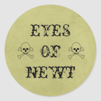 Eye Of Newt Label Halloween Candy Bar Classic Round Sticker